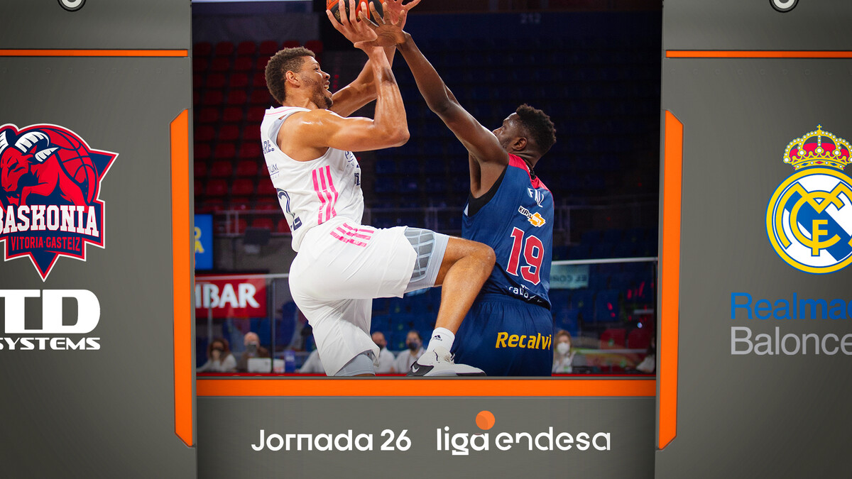 Resumen TD Systems Baskonia 74 - Real Madrid 85 (J26)